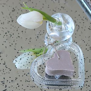 Heart Shaped Soap Dish With Soap - soap dishes