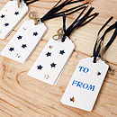 White gift tags back