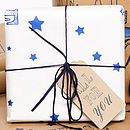 Gift wrap white close up present