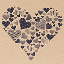 Rustic Navy Heart Close Up