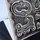 'Love' Vintage Book Linoprint Card