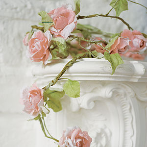 Paper Flower Garland - decorative accessories