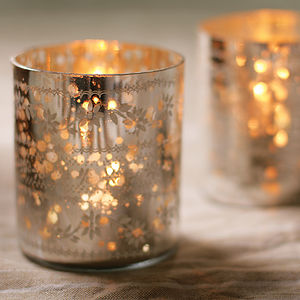 Sparkling Tea Light Holder - candles & lights