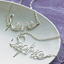 Personalised Word Pendant