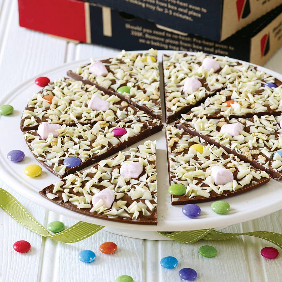 ... > THE GOURMET CHOCOLATE PIZZA CO. > YUMMY SCRUMMY CHOCOLATE PIZZA
