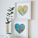 Personalised Map Location Heart Print