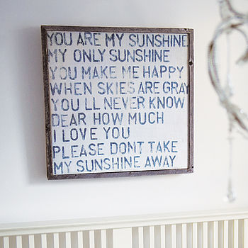 'You Are My Sunshine' Wooden Art Print