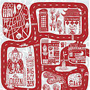 Limited Edition 'Central London' Print Red