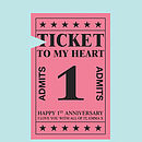 Ticket heart detail