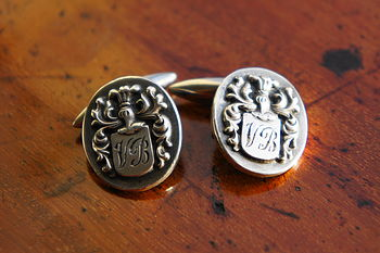 Personalised Coat Of Arms Cufflinks