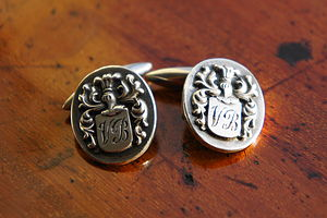 Personalised Coat Of Arms Cufflinks - cufflinks