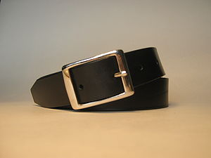 Black Leather Handmade Belt - belts