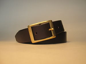Dark Brown Leather Handmade Belt - belts