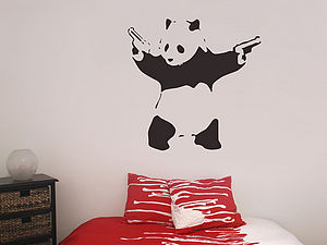 Banksy Panda Wall Stickers - wall stickers
