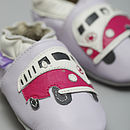 Retro Camper Soft Leather Baby Shoes