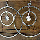 Double Hoop Silver Earrings