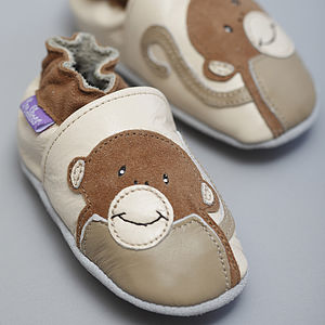 'Funky Monkey' Soft Leather Baby Shoes - gifts for babies