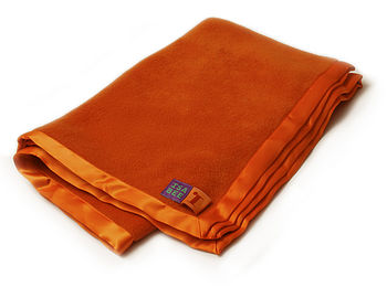 Cuddly Fleece Baby Blanket In Bright Orange