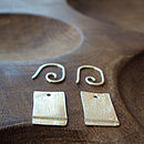 Silver Drop And Swirl Ribbon Earrings