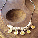 Silver And Gold Petal Necklace