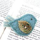 Duck Egg Blue Birdie Pin