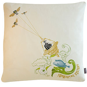 'Yorkshire Nectar' Flying Cushion - cushions