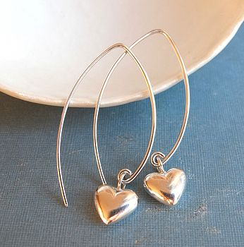 Sweet petites sterling silver heart earings