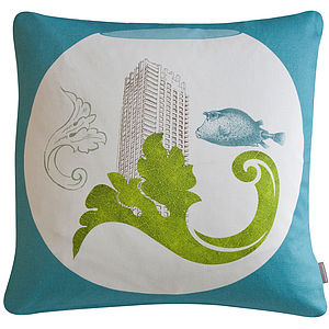 'Urbane Fish' Cushion - cushions