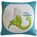 'Urbane Fish' Cushion