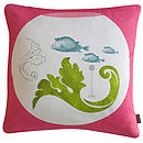 'Urbane Fishes' Cushion