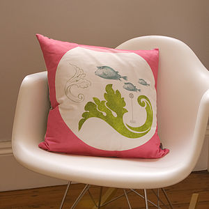 'Urbane Fishes' Cushion - cushions