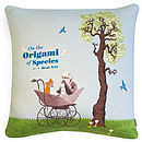 'Origami Of The Species' Cushion