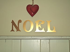 Gold Wall Letters - room decorations