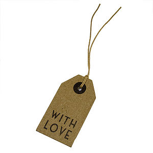 Brown 'With Love' Gift Tag - view all sale items