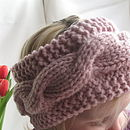 Handknit Cable Head Band