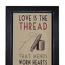 'Love Is The Thread' Framed Print