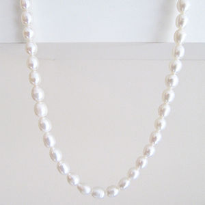 'Something Blue' Pearl Necklace