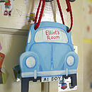 Car Shaped Door Hanger Or Plaque