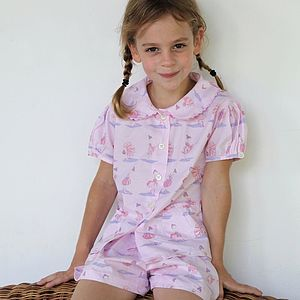 Ballerina Pink Cotton Short Set - clothing