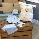 Baby Blue Sleep Set with Personalised Gift Bag