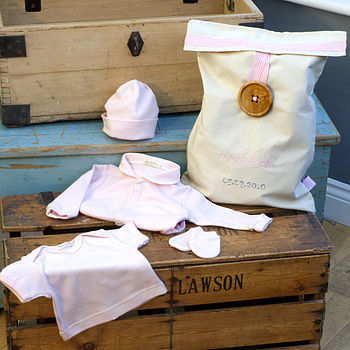Baby Pink Sleep Set with Personalised Gift Bag