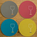 Set Of Four 'Word Up' Drink Coasters