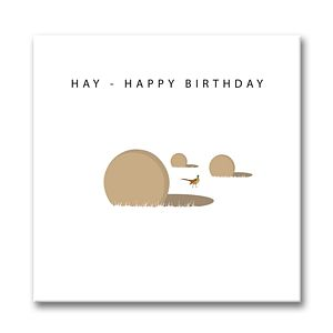 'Hay Happy Birthday' Card