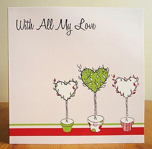 Topiary Hearts Greetings Card - shop by occasion
