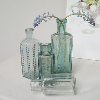 Vintage Glass Storage Bottle