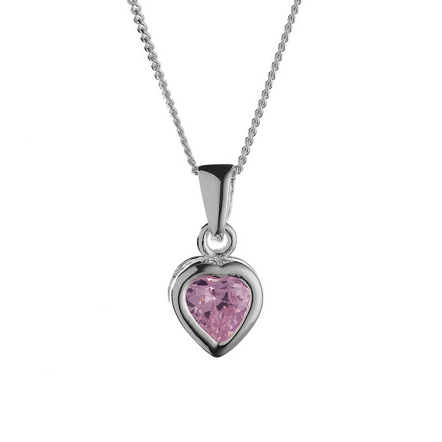 Girl's Crystal Heart Necklace