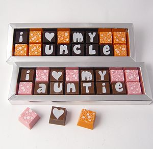 Personalised Chocolates For FAMILY - chocolates & confectionery
