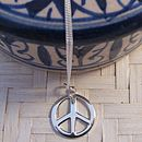 Sterling Silver Peace Symbol Necklace
