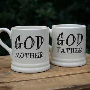 'Godmother' Or 'Godfather' Mug - gifts for godparents
