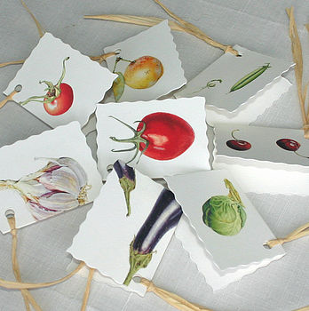 Assorted 'Fruit And Veg' Tags